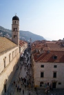 Looking over Dubrovnik's main street