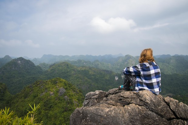 Looking out over Cat Ba Island