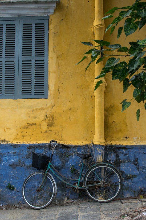 Bicycle against the yellow walls