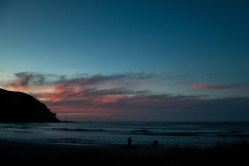 Sunset at NZ's most Northernly campsite