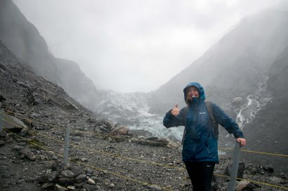 Rainy day at Fox Glacier