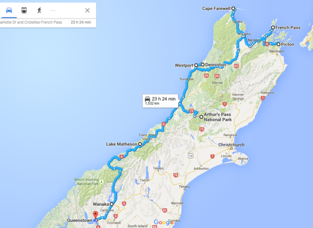 South Island Route