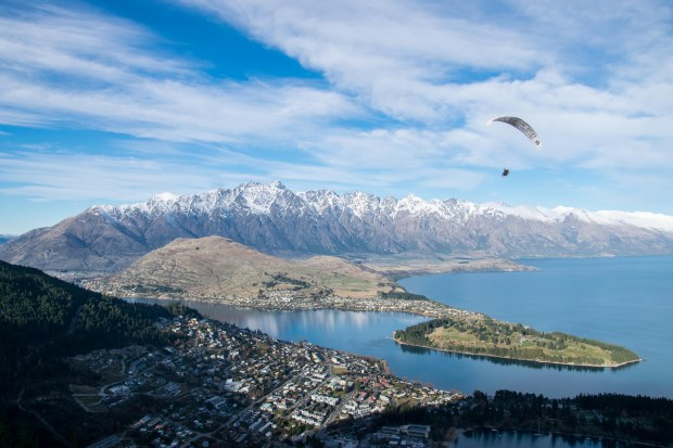 Queenstown and the Remarkables from the Skyline