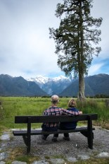 Mum and Dad in front of Mount Cook