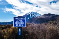 The start of the Tongariro Crossing